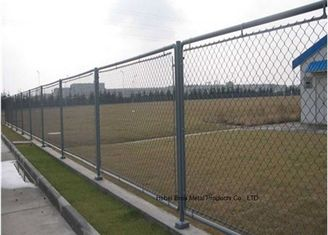 Cina Hot Dipped Galvanized Steel Wire Anggar, Residential Metal Chain Link Fence pemasok