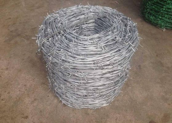 Cina Single Twisted Galvanized High Tensile Barbed Wire Security Untuk Industri pabrik