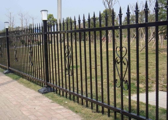 Powder Coated Security Picket Tubular Steel Pagar, Panel Pagar Hias